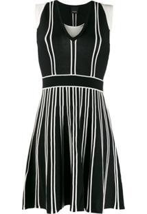Pinko Vestido Bicolor - Preto
