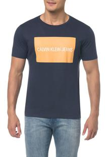 Camiseta Ckj Mc Est Logo Retangulo Marinho Camiseta Ckj Mc Est Logo Retangulo - Marinho - Pp