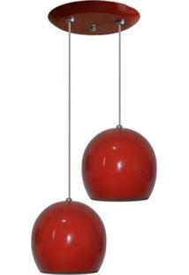 Luminaria Com 02 Bolinhas Juntas Vermelho