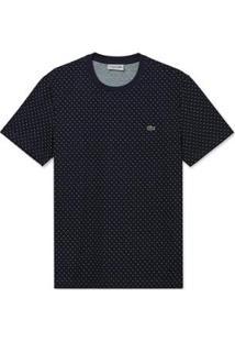 Camiseta Lacoste Masculina - Masculino-Marinho+Branco