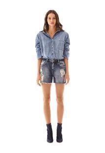 Bermuda Comfort Reserva Lateral Jeans