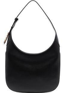 Versace Small Virtus Saddle Shoulder Bag - Preto