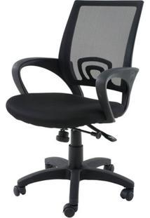 Cadeira Secretaria Santiago Preta C/Rodizio Em Nylon - 21351 - Sun House
