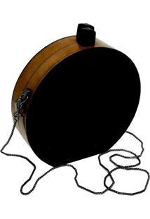 Bolsa La Madame Co Clutch Redonda Black