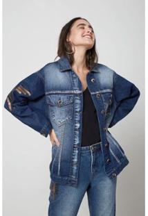 Jaqueta Oh, Boy! Jeans Silk - Feminino-Azul