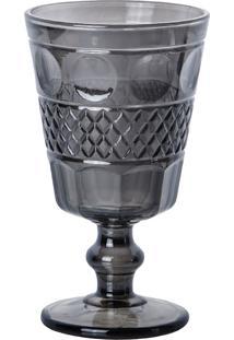 Conjunto De 6 Taças De Vidro Para Água Cinza Geometric 250Ml