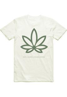 Camiseta Beats & Blunts Herbal - Masculino-Bege