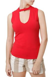 Blusa Regata Feminina Vermelho