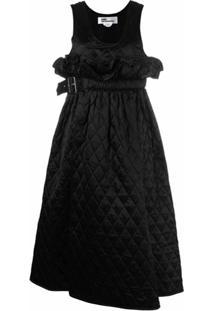 Comme Des Garçons Noir Kei Ninomiya Vestido Envelope Matelassê - Preto