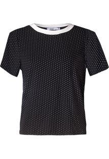 T-Shirt Karamello Poá Preto