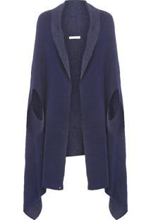 Casaco Feminino Tricot Manteaux - Azul