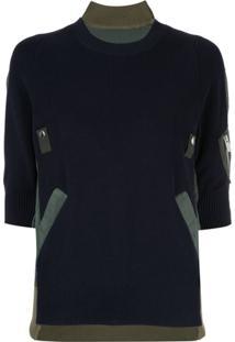 Sacai Blusa De Tricô - Azul