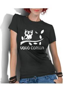 Camiseta Criativa Urbana Frases Vovó Coruja - Feminino