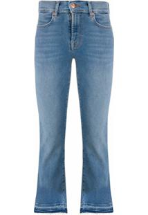 7 For All Mankind Calça Jeans Cintura Alta Destroyed - Azul