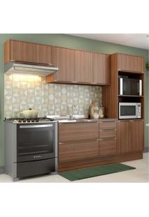 Cozinha Completa Multimã³Veis Com 6 Peã§As Calã¡Bria 5457R Nogueira - Incolor/Marrom - Dafiti