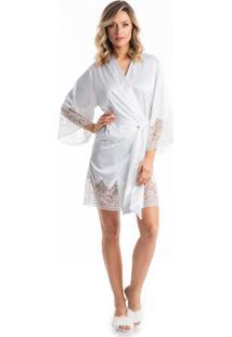 Robe Noiva C/ Renda Branco/Gg