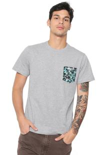 Camiseta Quiksilver Pack Pocket Cinza