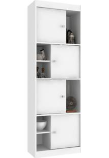 Estante Home Office 4 Pt Branca 60 Cm