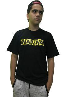 Camiseta Narina Skate Old School Logo Preta