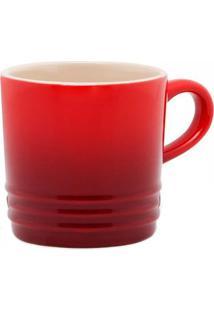 Caneca Le Creuset Cerâmica Vermelho 350Ml - 12683