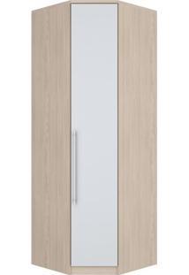 Guarda Roupa Modulado 1 Porta Diamante Fendi/Branco Hp - Henn
