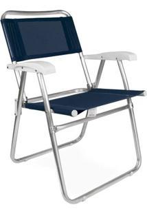 Cadeira Master Alumínio Fashion - Azmarinh - Unissex-Azul Escuro