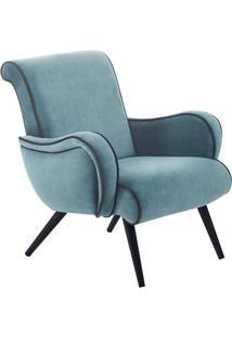 Poltrona Decorativa Gran Belo Style Veludo Azul