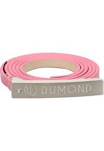 Cinto Dumond Fino Logo Feminino - Feminino
