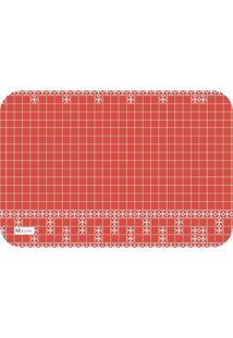 Tapete De Cozinha Mdecore Abstrato Vermelho 40X60Cm