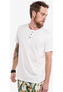 Camiseta Henley Off White 100069