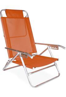 Cadeira Reclinável Alumínio 5 Posições Sortida Coral