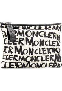Moncler Clutch Com Estampa - Branco