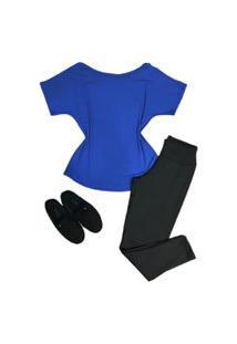 Blusa Camisa Básica Feminina Veste Leg Viscolycra