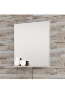 Espelheira Para Banheiro Balcony Up Com Espelho E Prateleira Mdf Branco/Cabernet