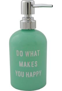 Porta Sabonete Líquido Verde 400Ml Makes You Happy Urban Home