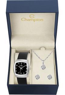 Relógio Champion Analógico Ch28951K Feminino - Feminino-Preto