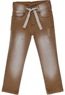 Calça Jeans Oznes - Masculino-Marrom