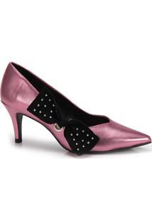 927438fd35 Passarela. Sapato Scarpin Bico Fino Lara Laço