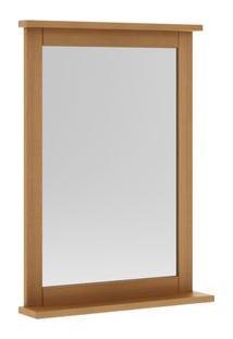 Espelheira Para Banheiro Com Prateleira 41Cm Mission Mão E Formão Jatoba