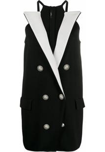 Balmain Vestido Blazer - Preto