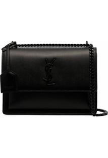 Saint Laurent Bolsa Tiracolo 'Sunset' Média - Preto
