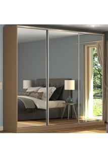 Guarda-Roupa Casal 3 Portas Correr 3 Espelhos 100% Mdf Rc3002 Ocre - Nova Mobile