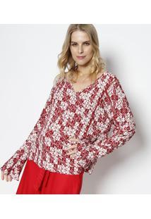 Blusa Quadriculada - Bordã´ & Branca - Malweemalwee