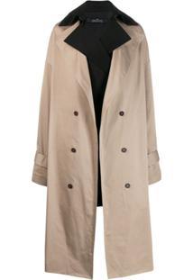Rokh Trench Coat Oversized - Neutro