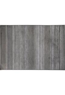 Tapete Modern I Retangular Viscose (67X105) Cinza Escuro