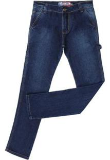 Calça Jeans Carpinteira Rodeo Western 2 Masculina - Masculino-Azul