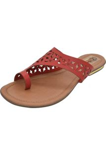 Sandália Romântica Calçados Laser Vermelho