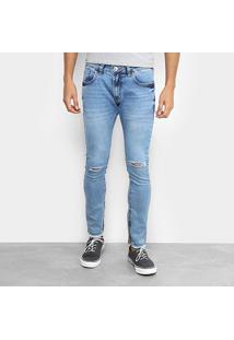 Calça Jeans Cropped Preston Destroyed Masculina - Masculino
