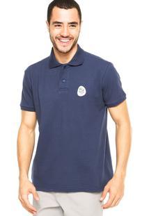 Camisa Polo Malwee Tradicional Olimpíadas Azul Marinho