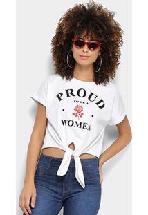 Camiseta Coca-Cola Cropped Estampa Floral Aroma Feminina - Feminino